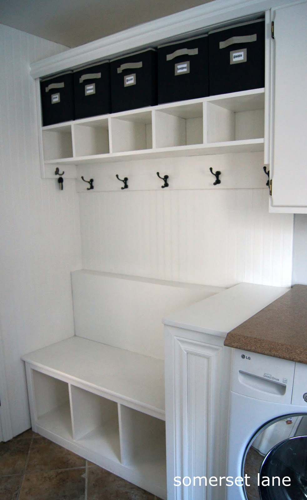 Image of: small mudroom bench