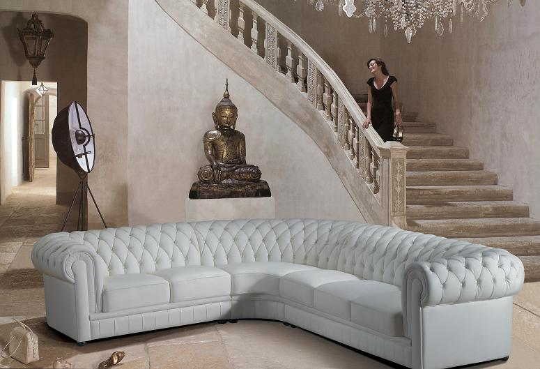 Image of: small white sectional sofa