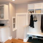 stunning mudroom bench
