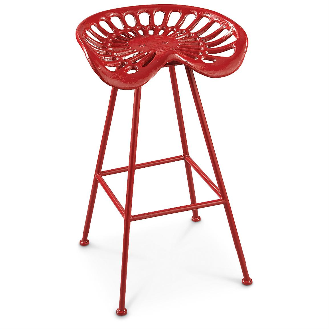 Image of: tractor seat bar stools red