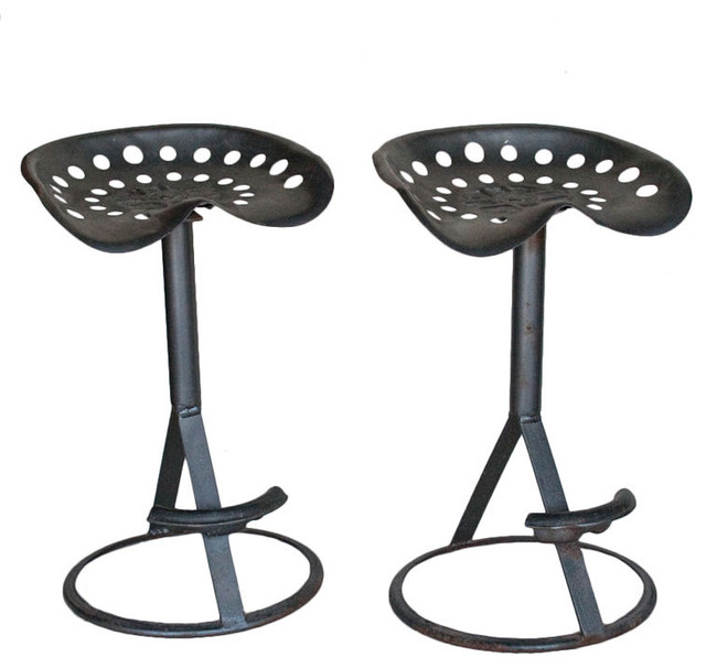 Image of: traditional tractor seat bar stools