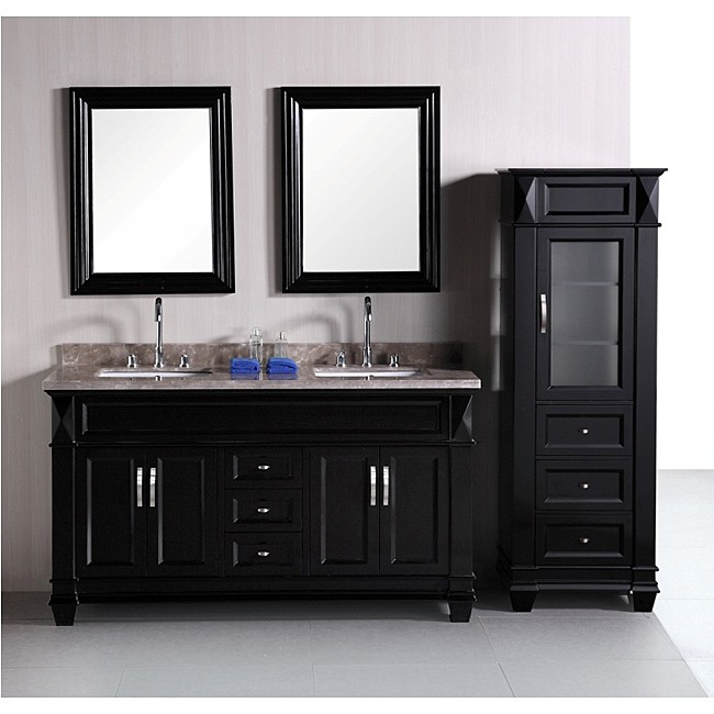 Image of: vanities bathroom linen cabinets