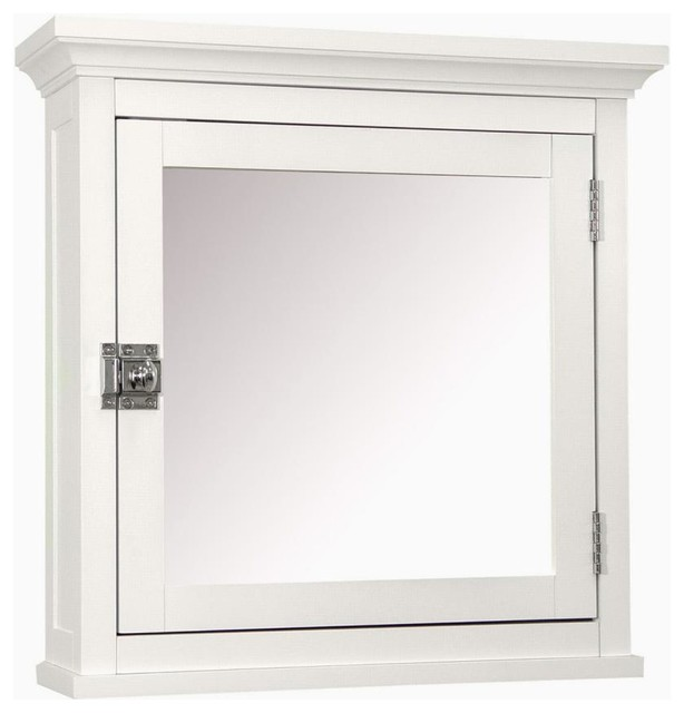 Image of: white frame mirrored medicine cabinet