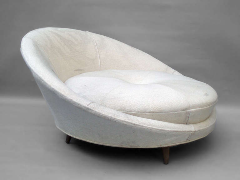 Picture of: white saucer chair