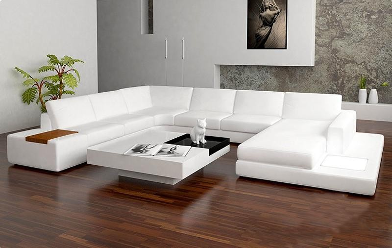 Image of: white sectional sofa design
