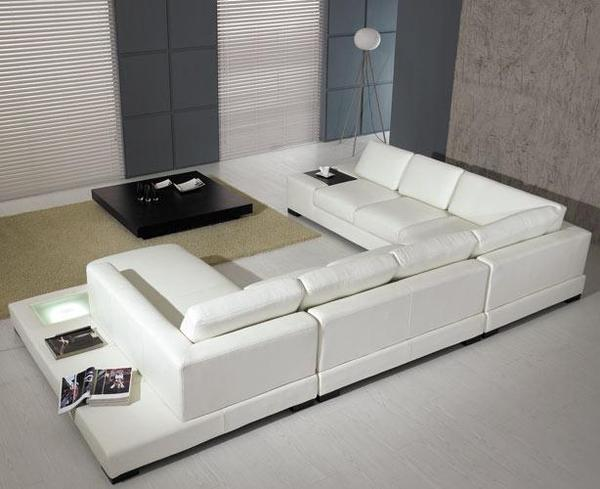 white sectional sofa size