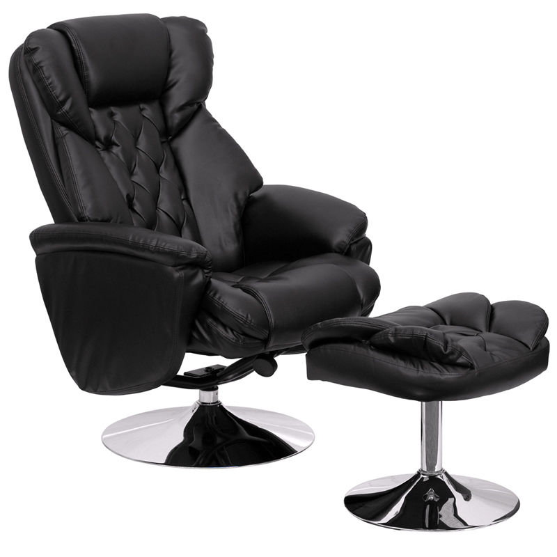 Picture of: Black Upholster Overstuffed Chairs