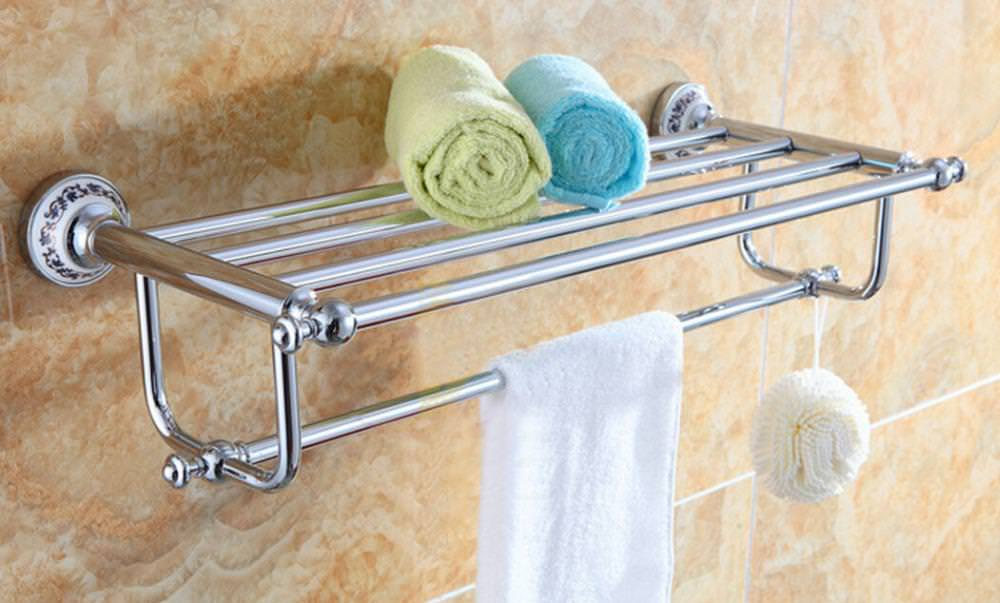 Image of: Affordable Floor Towel Rack