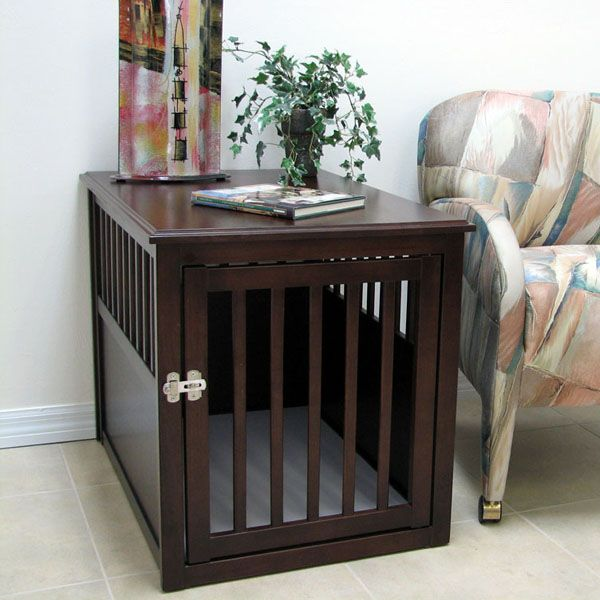 Image of: Beautiful Dog Crate End Table