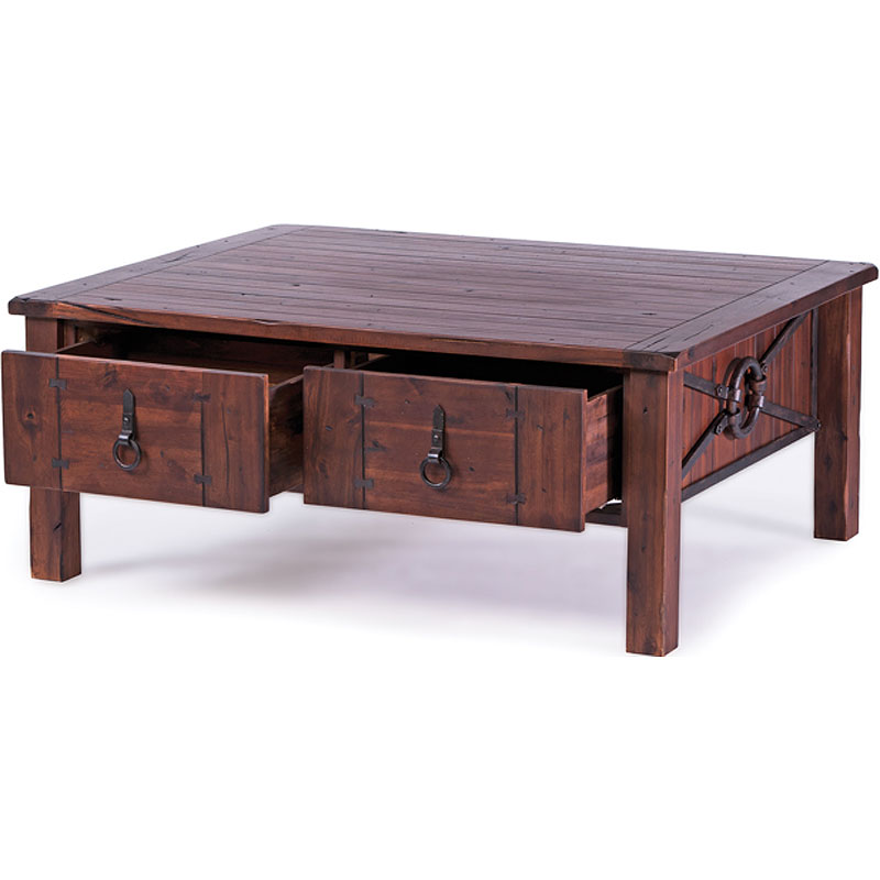Image of: Beckett Rustic 2 Drawer Coffee Table