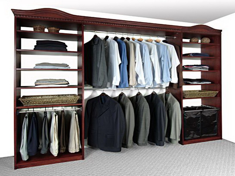 Image of: Best wood closet organizers
