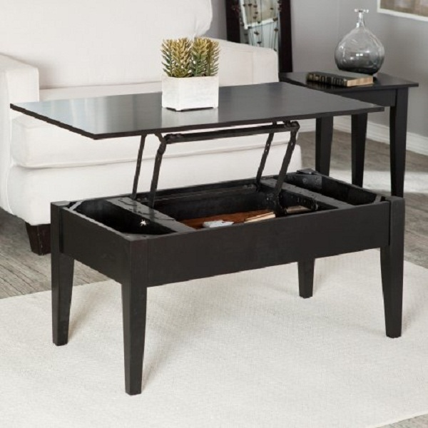 Image of: Black lift top coffee table