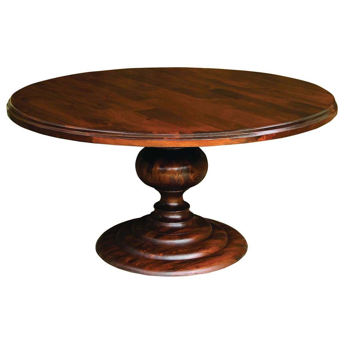 Picture of: Brown Round Pedestal Dining Table Awesome