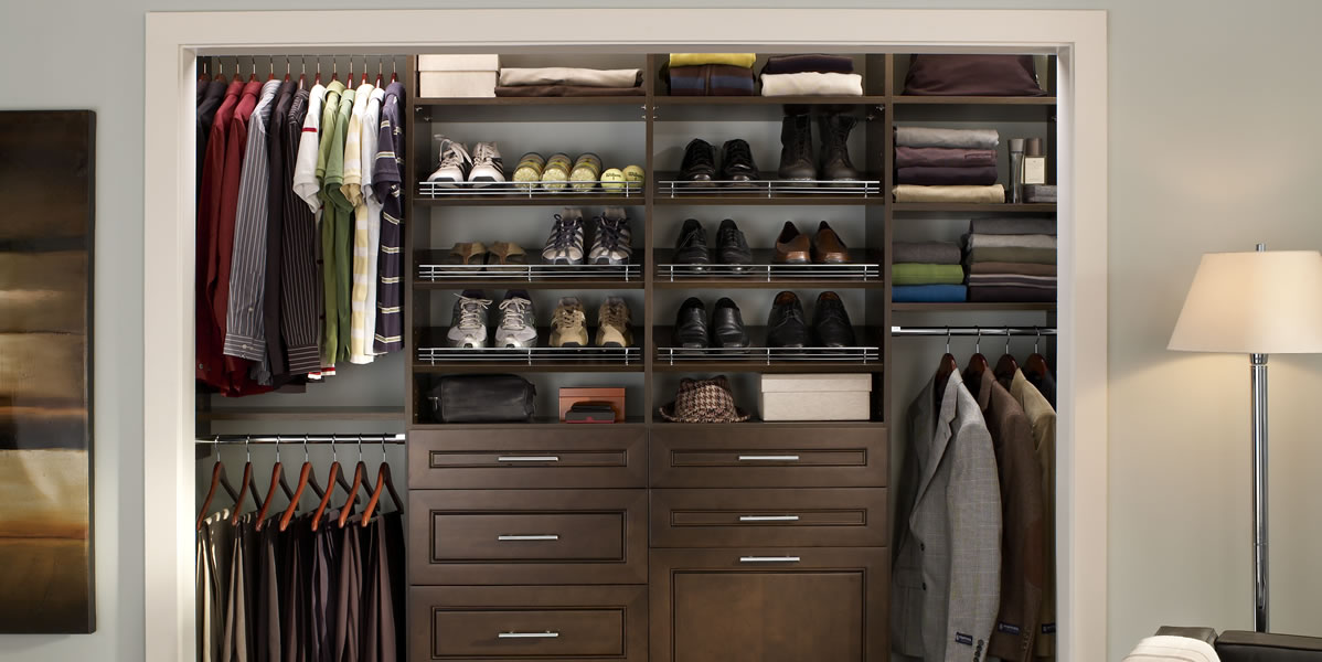 Image of: Build wood closet organizers