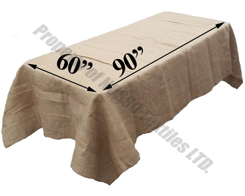 Picture of: Burlap Tablecloth Design