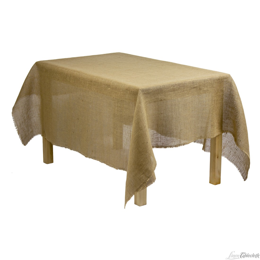 Picture of: Burlap Tablecloth with Fringe