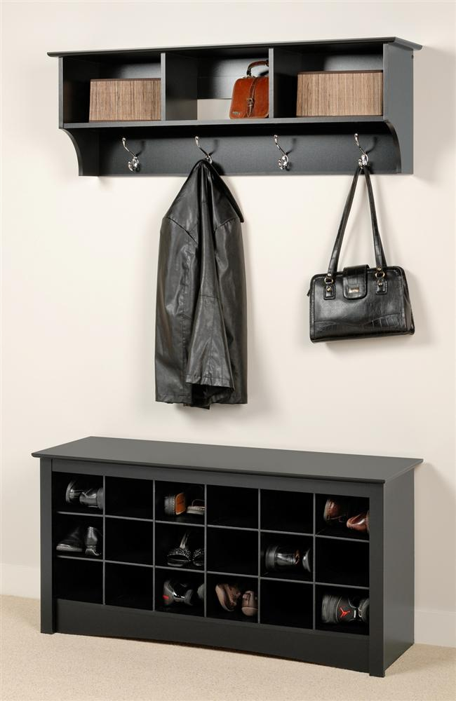 Coat Rack Bench Black Color