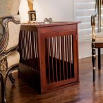 Contemporary Dog Crate End Table
