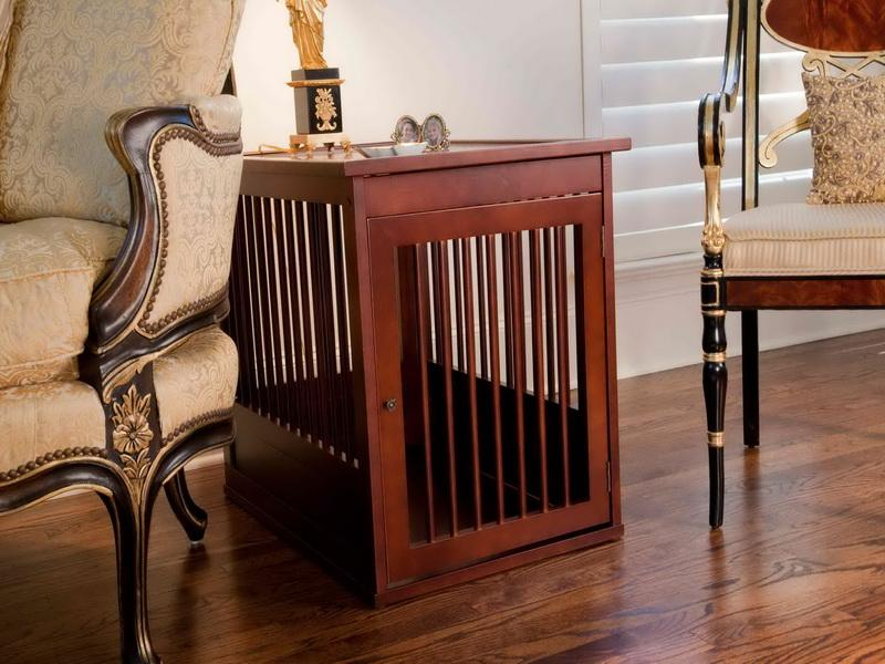 Image of: Contemporary Dog Crate End Table