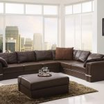 Contemporary Modern Brown Sectional Sofa