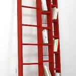 Cool ladder bookshelf design