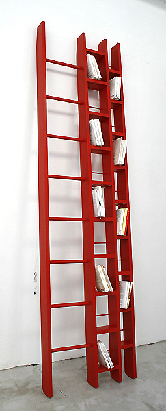 Image of: Cool ladder bookshelf design
