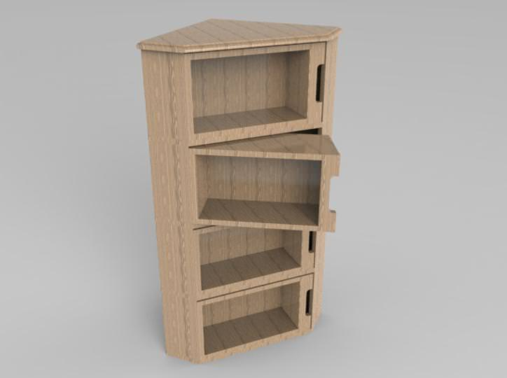 Image of: Corner Cabinet Furniture