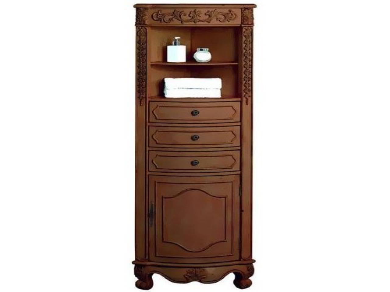 Image of: Corner Storage Cabinet Bathroom