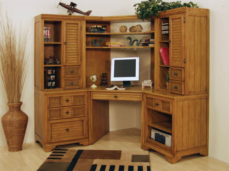 Image of: Corner Storage Cabinet with pc