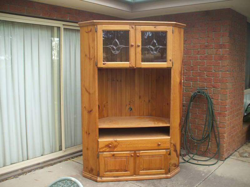 Image of: Corner Storage Unit With Doors