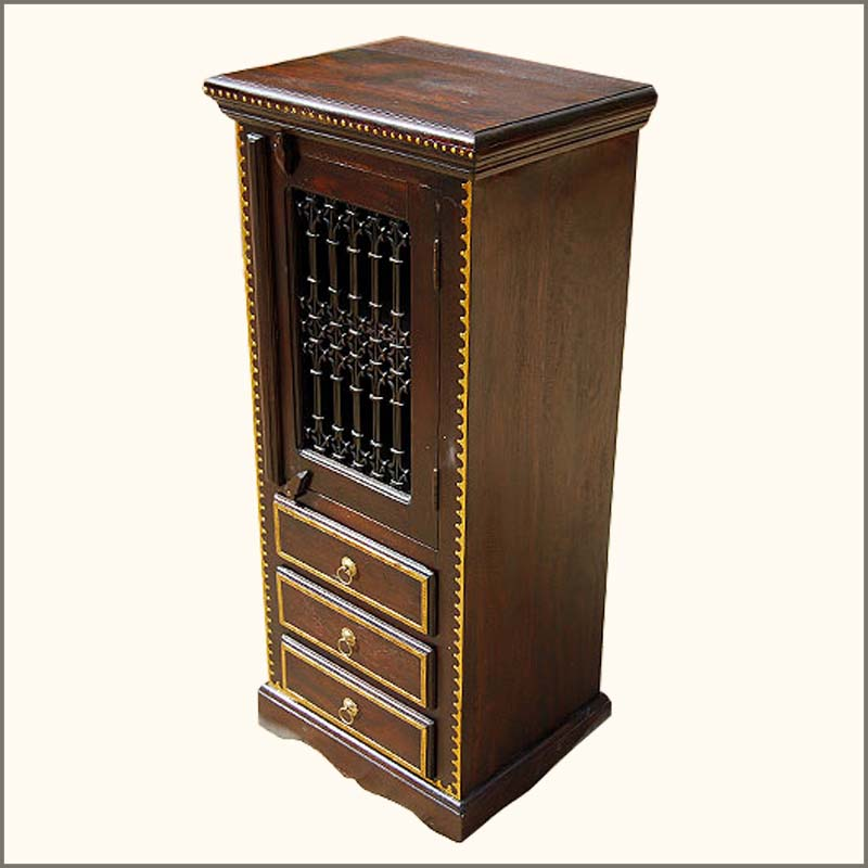 Image of: Corner storage cabinet furniture