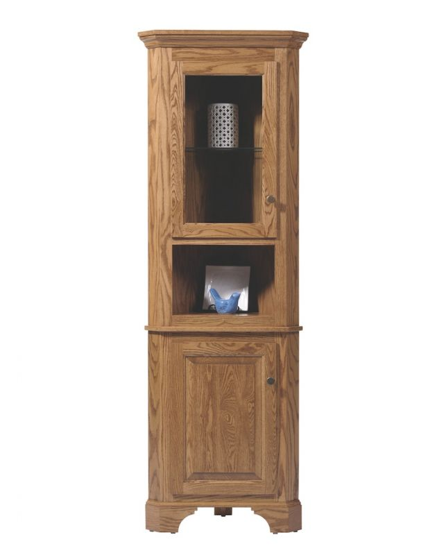 Picture of: Cottage americana corner hutch