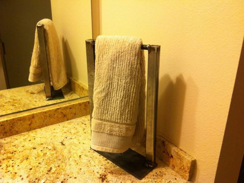 Picture of: Countertop Towel Stand