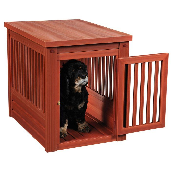 Creative Dog Crate End Table