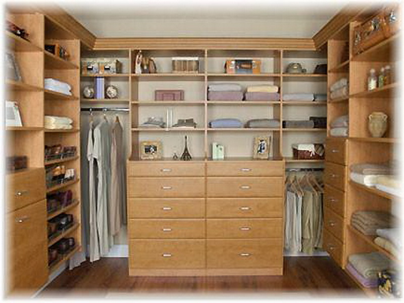 Image of: Custom wood closet organizers