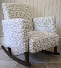 Image of: DIY Upholstered Rocking Chair