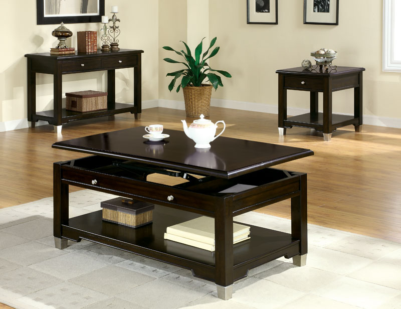 Image of: Dark lift top coffee table