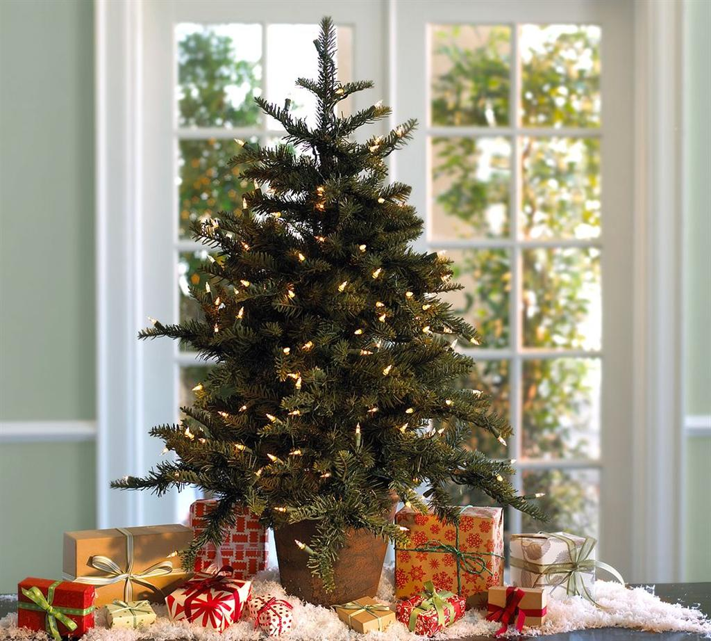 Picture of: Decoration Tabletop Christmas Trees