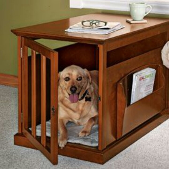 Image of: Dog Crate End Table