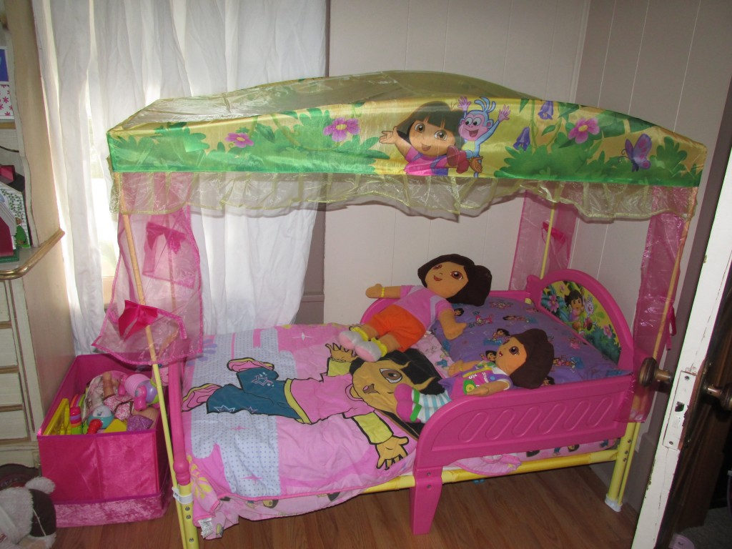 Picture of: Dora Toddler Bed Toys R Us