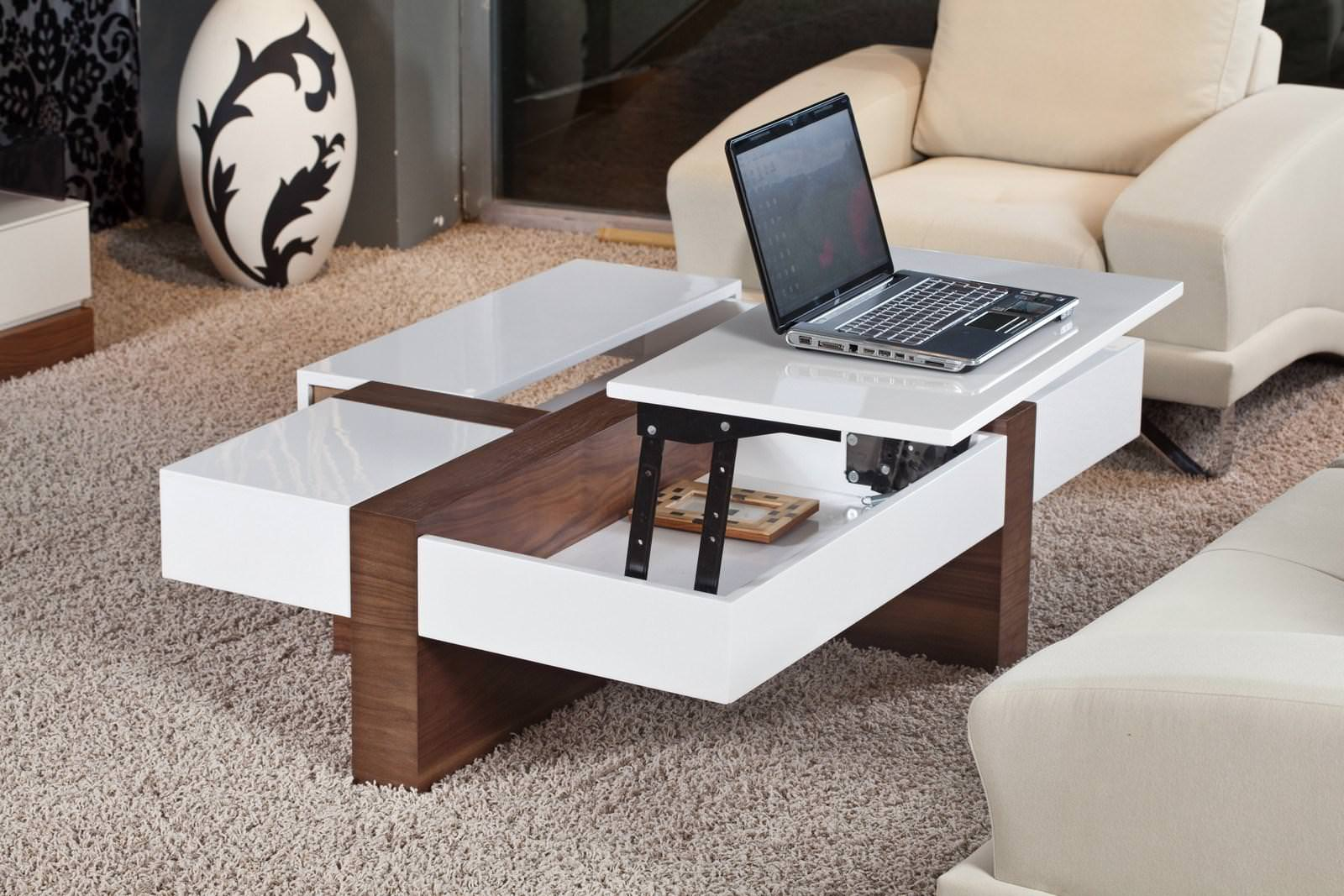 Image of: Double Lift Top Coffee Table