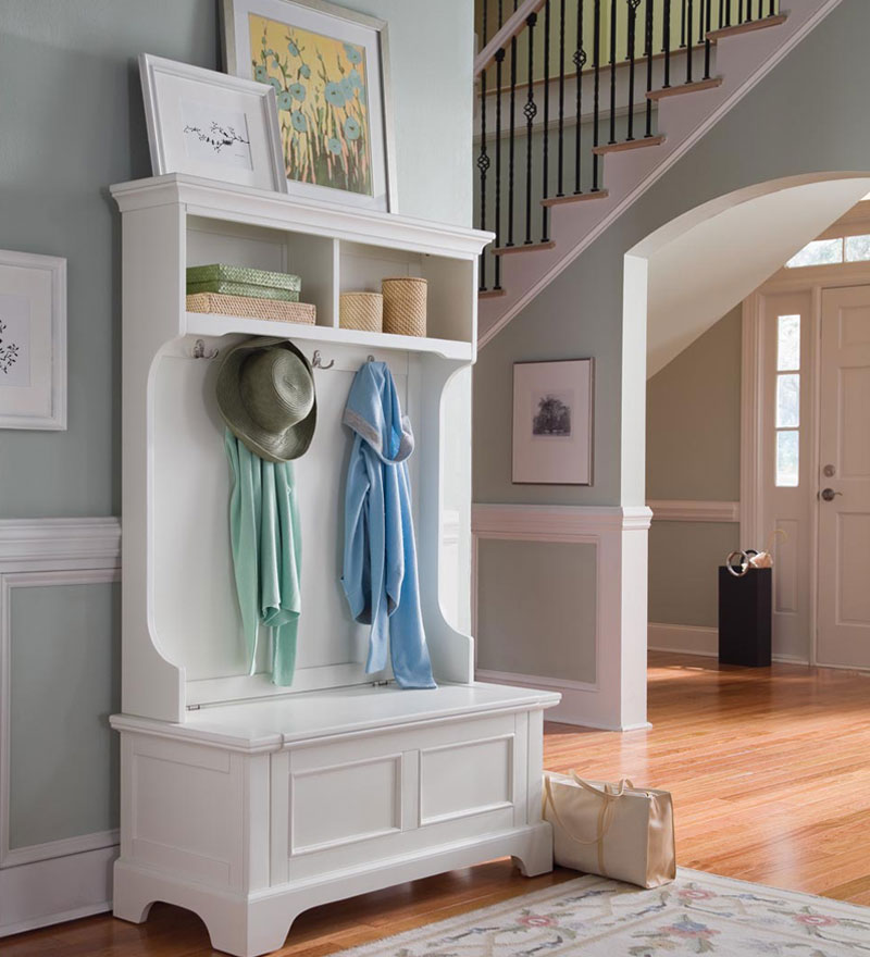 Picture of: Entryway Bench with Coat Rack
