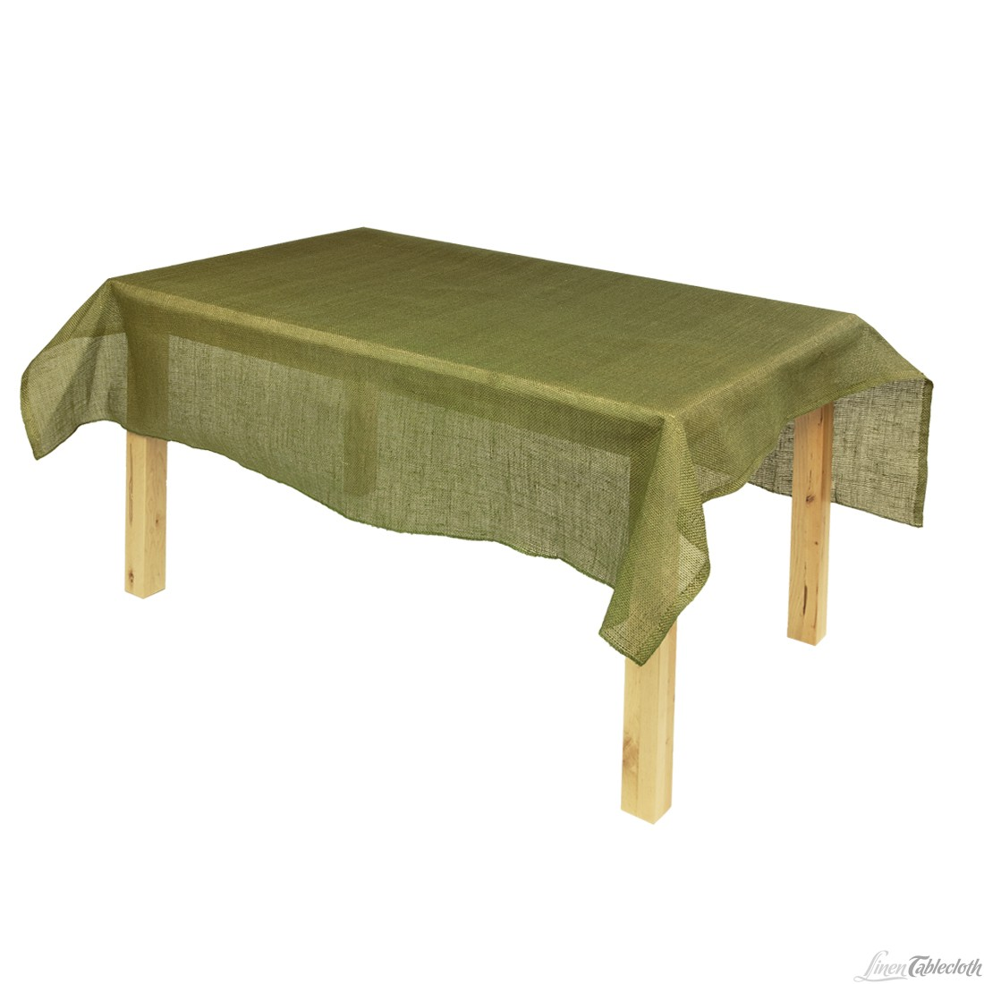 Picture of: Green Burlap Tablecloth