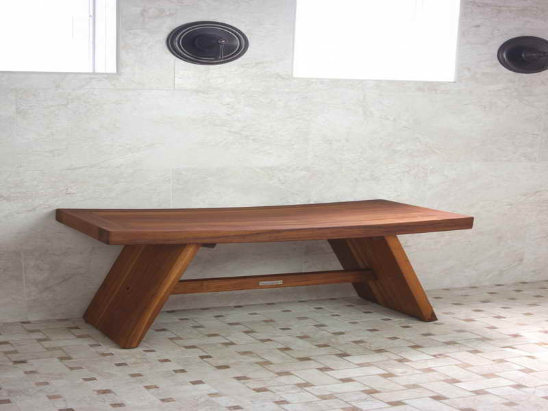 Image of: Japanese shower bench