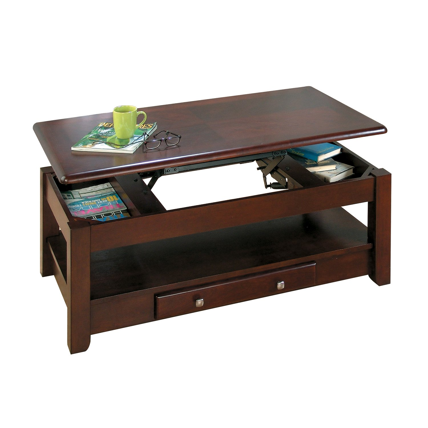 Picture of: Jofran Vintner coffee table with lift top olivia