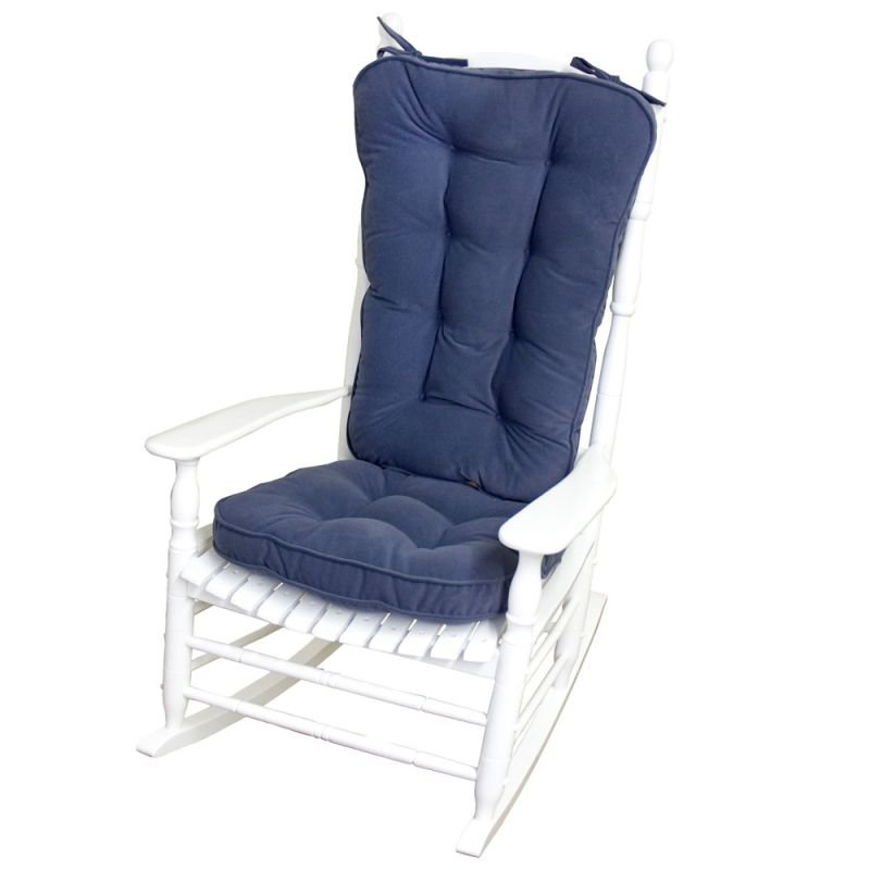Picture of: Jumbo Rocking Chair Cushion Set Denim