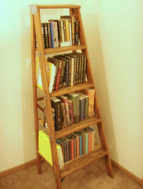Image of: Latest Ladder bookshelf design ideas