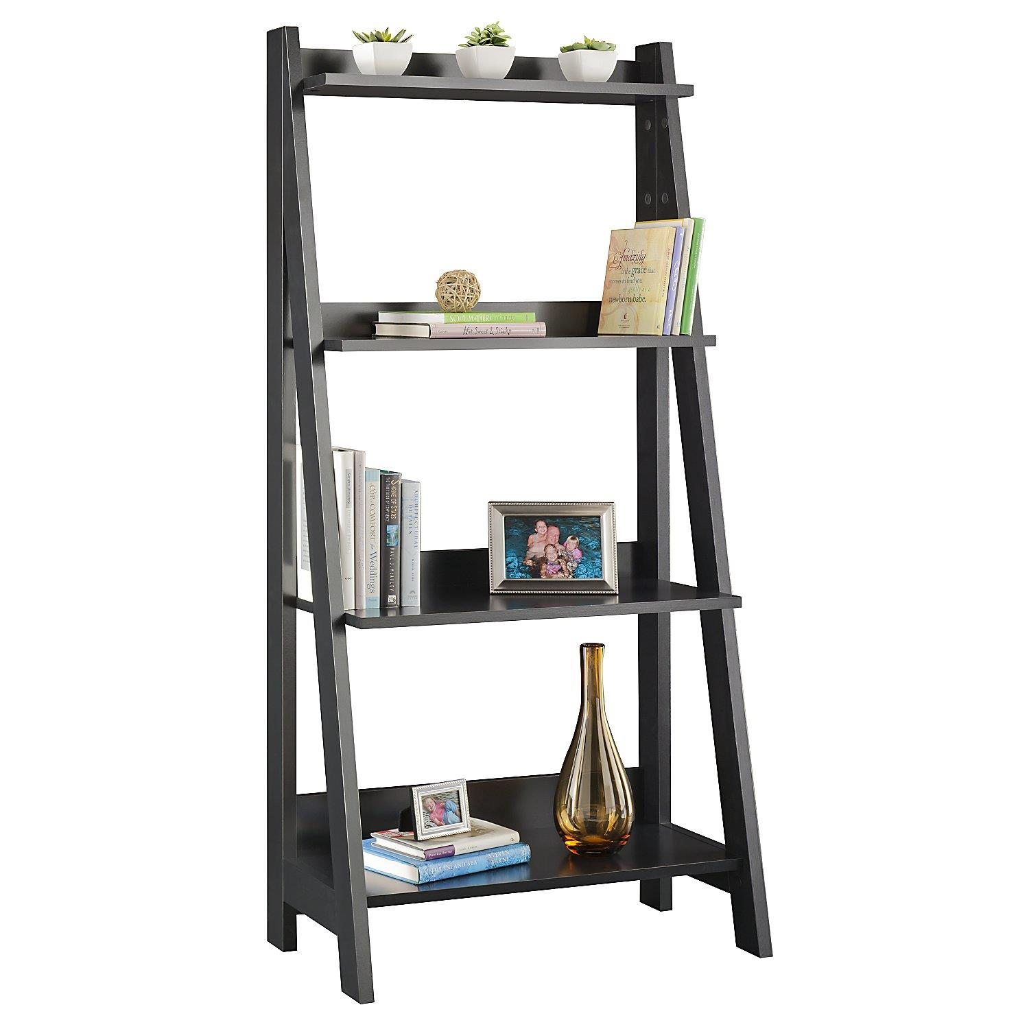 Image of: Ladder bookshelf design