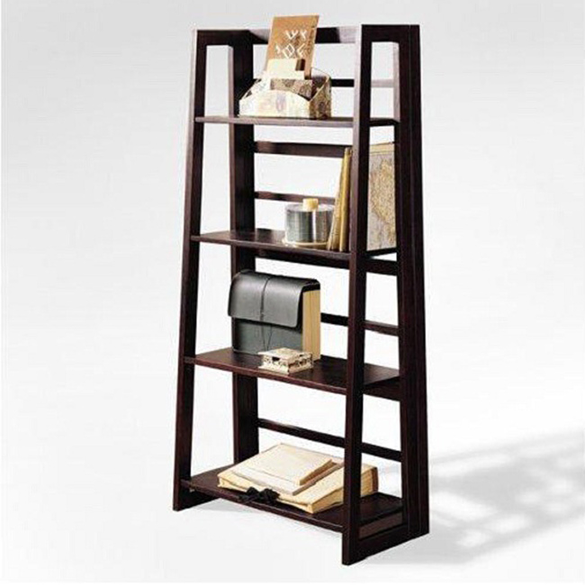 Image of: Ladder bookshelf home depot