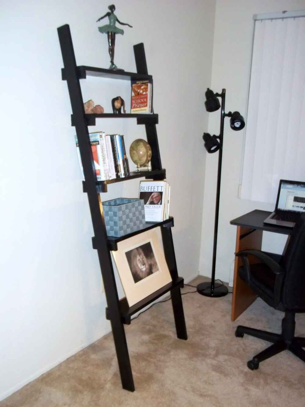Image of: Ladder bookshelf photo